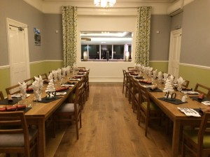 Our private dining room for up to 30 people.