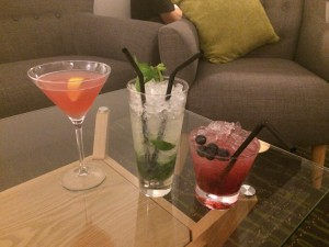 Some of the delicious cocktails available at The Carreg